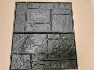 Stamps-Model Rubber-Molds Decorative Concrete-Cement Texture-Wall Floor NEW for Polyurethane