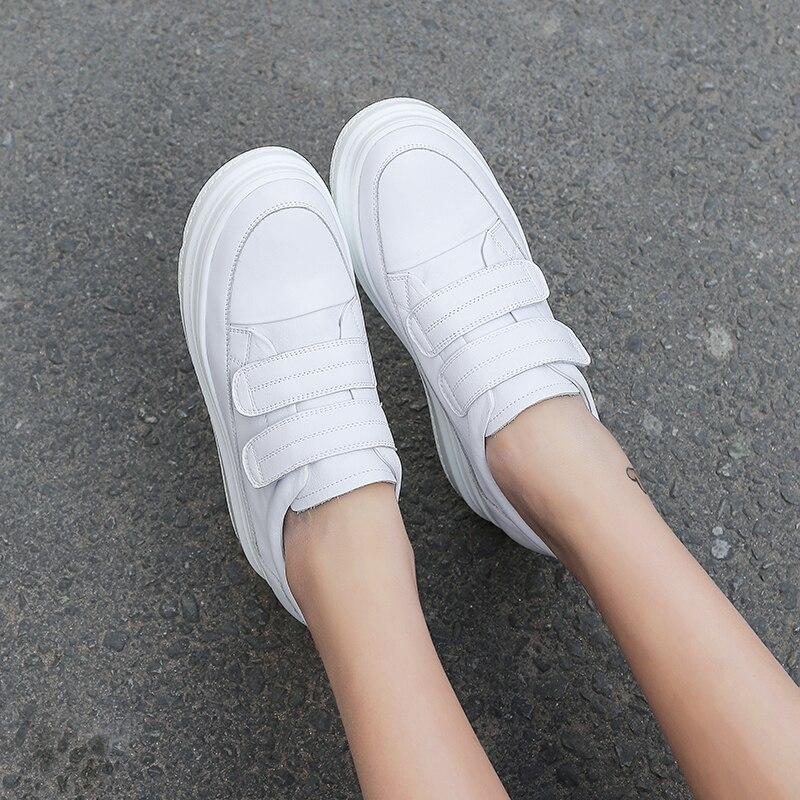 6 Planas Mujeres Blanco Lona Cuero Las blanco Plataforma Zapatos Casuales De Cm 5 Deporte 2019 Zapatillas Negro qWw0nFHx7X