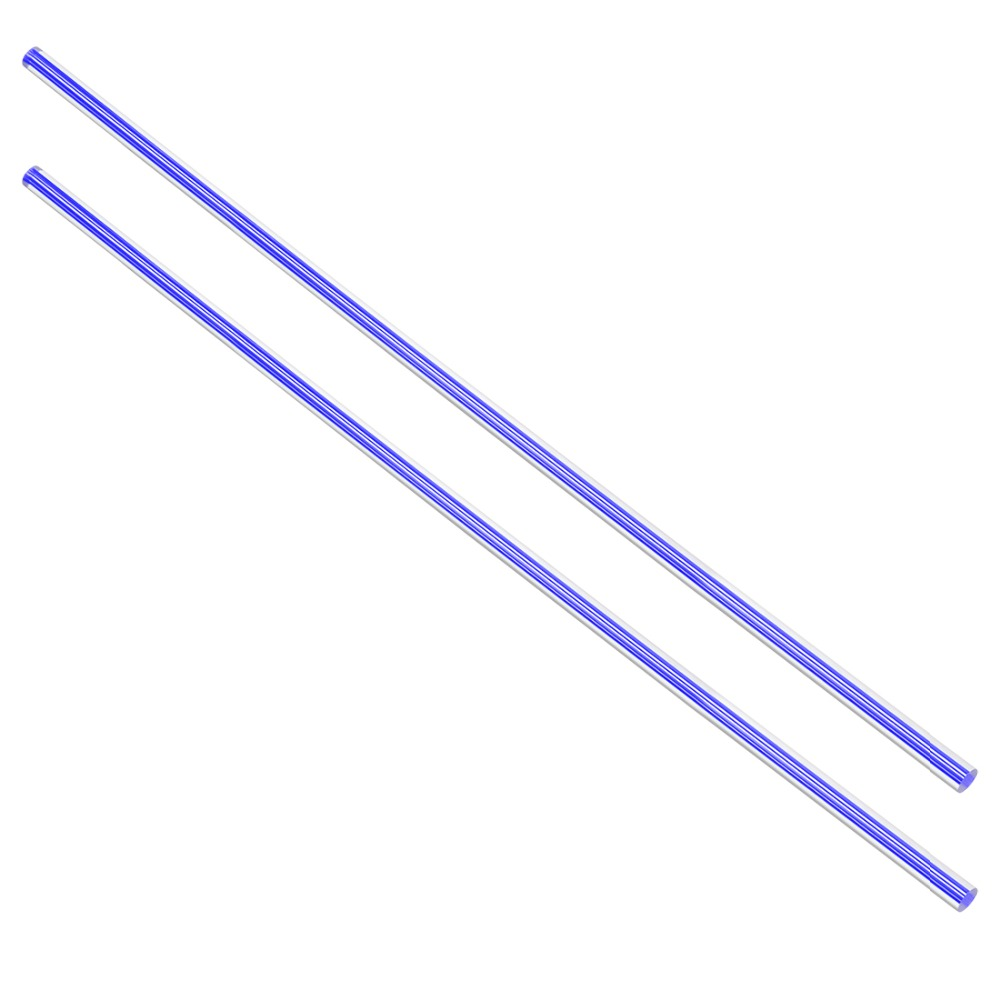 Uxcell 2pcs 6mm Diameter 500mm Length Straight Line Dark Blue/Yellow/Light Purple Acrylic Plexiglass Round Rod PMMA Bar