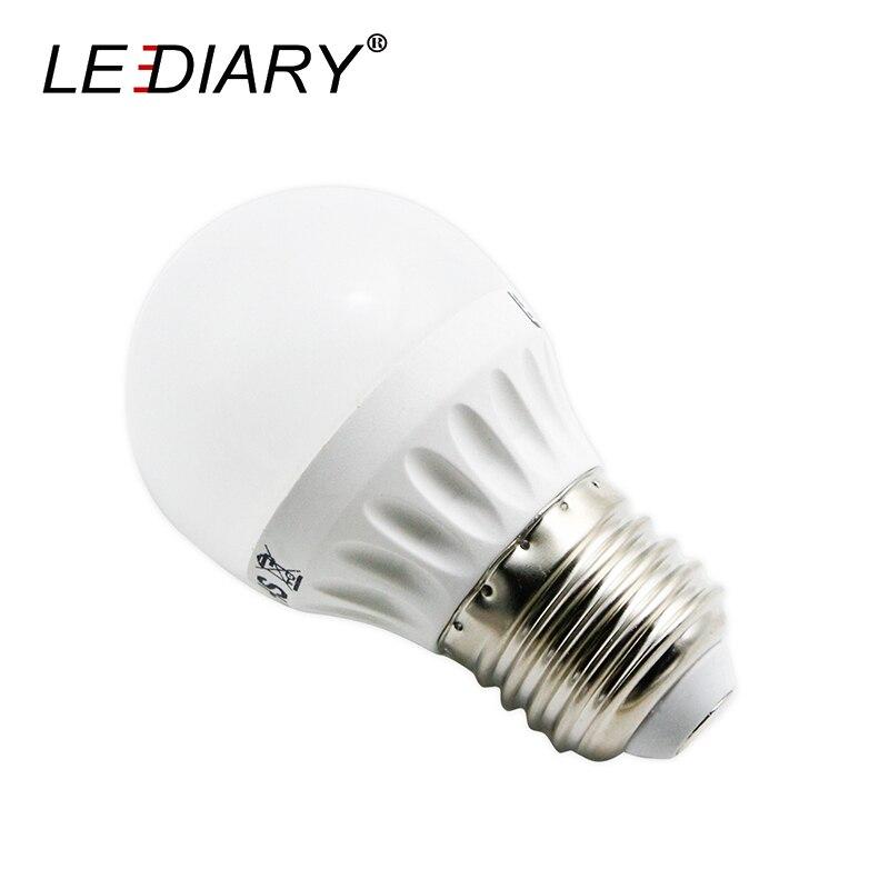 LEDIARY LED G45 E27 Real>5W Warm/Cold White Aluminum-Plastic Clad Global Lamp Energy-saving Ball Bulb D45mm*H74mm 175V-250V