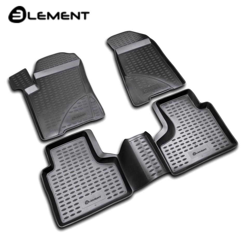 For Chevrolet Niva 2002-2008 floor mats into saloon 4 pcs/set Element NLC5215210 for chevrolet niva 2002 2009 trunk mat element nlc5215b13