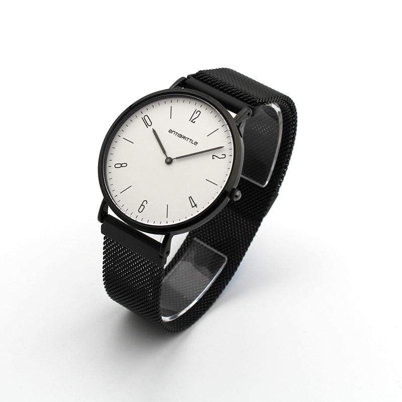 Luksusowe zegarki kwarcowe damskie Super cienkie czarne skórzane - Zegarki damskie - Zdjęcie 5