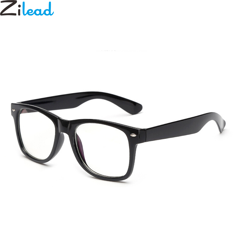 bbdccdd781 ... Zilead Big Frame Square Women Men Blue Light Plain Glasses Retro  Radiation Computer Glasses Myopic Lens Frame Eyeglasse