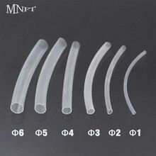 MNFT 60PCS (6CM/PCS)Carp Fishing Rigs Shrink Tube Fish Rig Making Transparent Heat Shrink Tubes Rigging Material