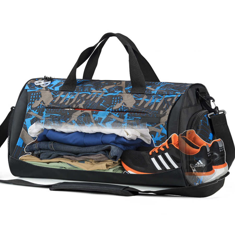 a18b90a1ce95 Shoe Compartment Sport Gym Bag With Wet Pack For Men Women Training Fitness  Luggage Handbag Travel