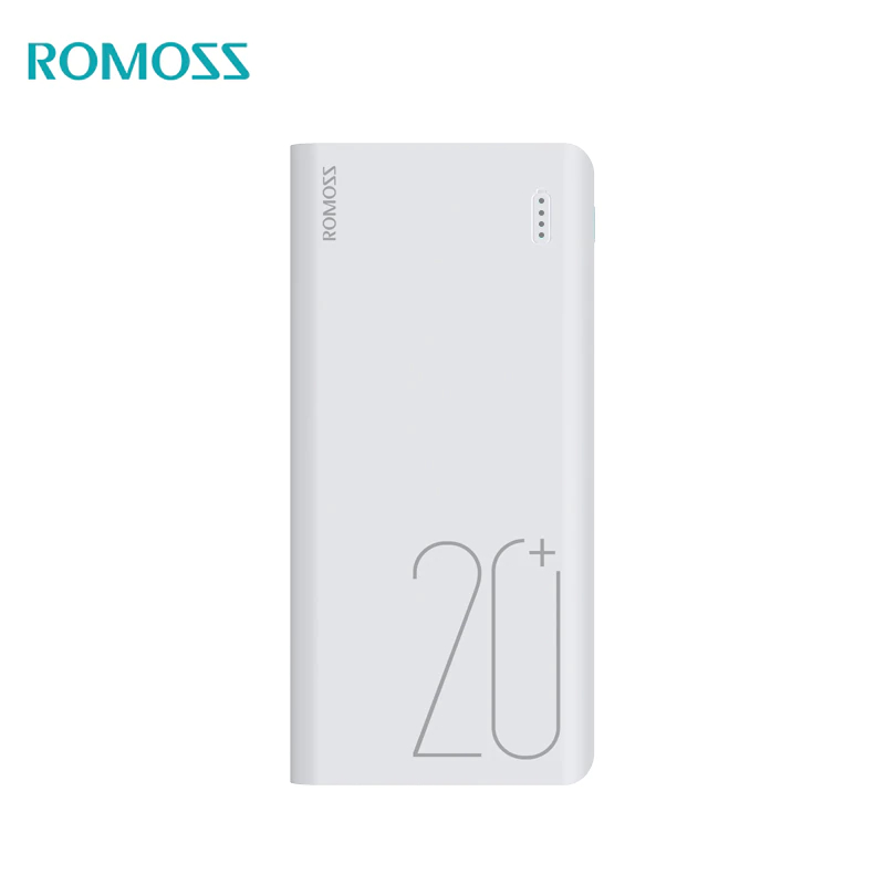 Power Bank Romoss Sense 6+ 20000 mAh USB Type power bank externa bateria portable charger for phone car jump starter battery 82800mah portable booster with usb power bank led flashlight for truck automobiles boat hot sale