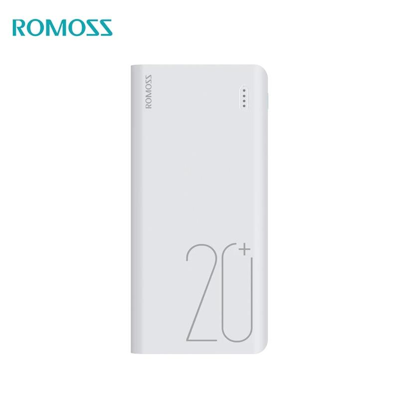 Power Bank Romoss Sense 6+ 20000 mAh power bank romoss sense 4p mobile 10400 mah solar power bank externa bateria portable charger for phone