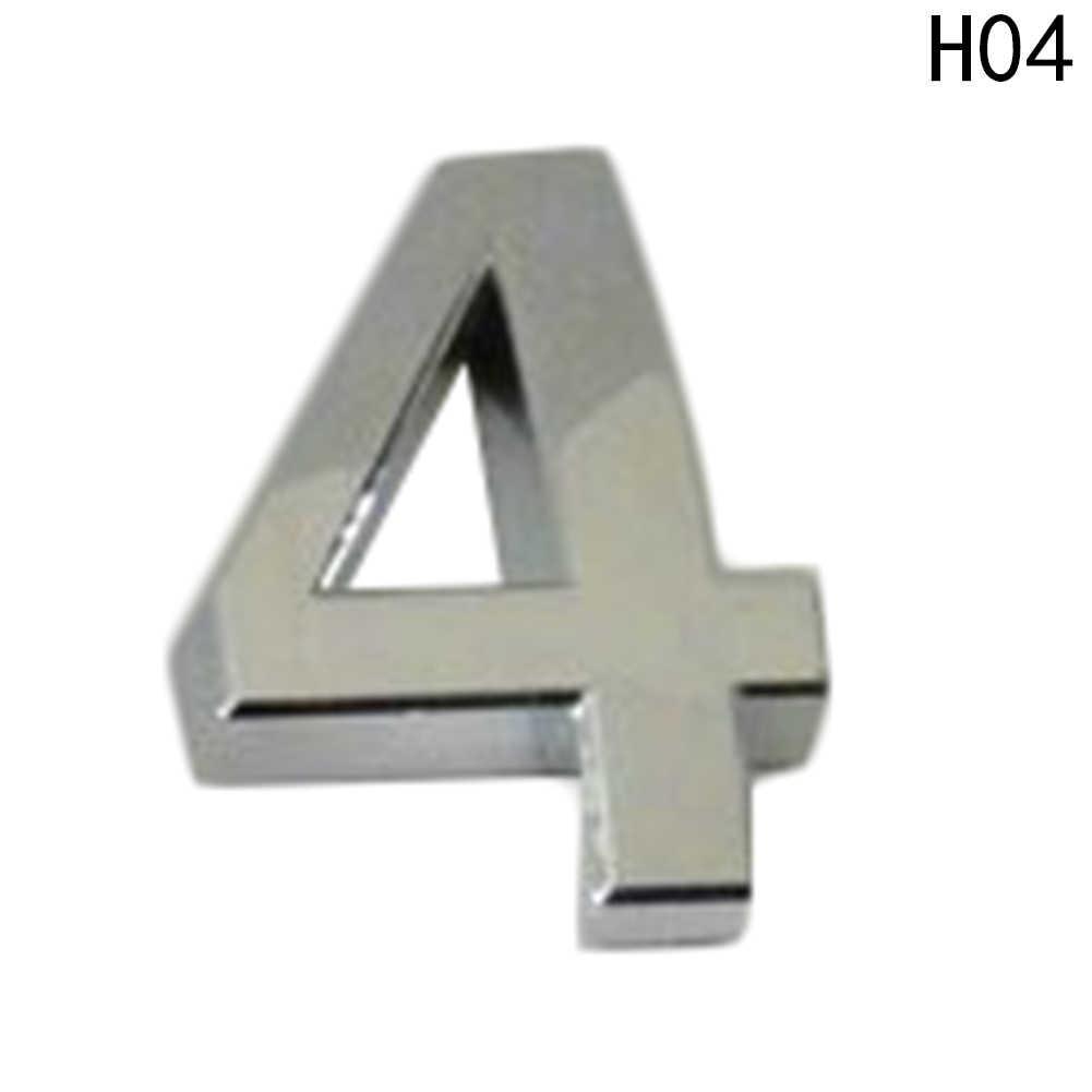 Novo 5 cm Carro Do Hotel Casa Endereço Da Porta Número Dígitos Numeral Placa Placa Sinal Quarto Portão Emblema Etiqueta Com Auto-Etiqueta adesiva
