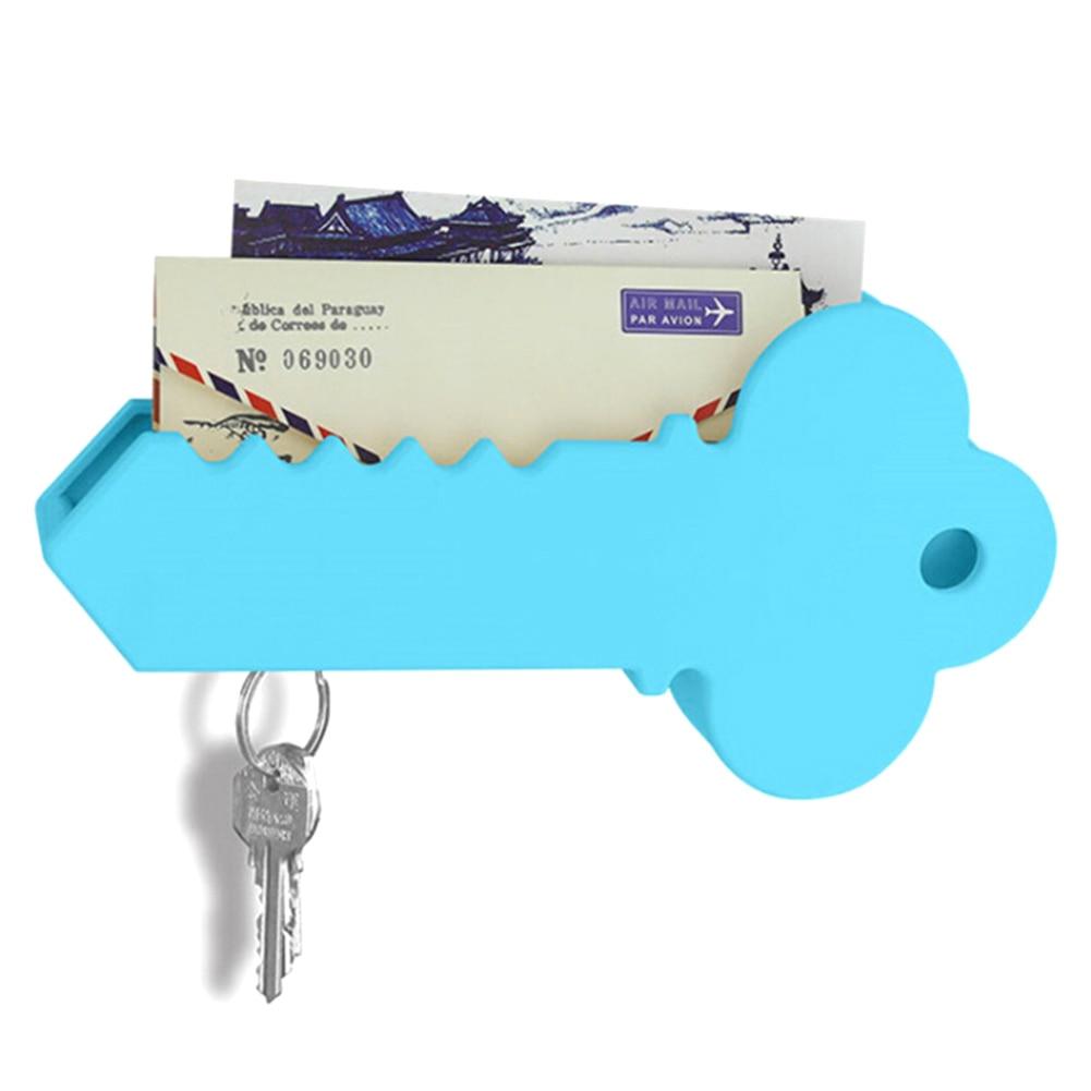 Home Wall Decorative Big Key Holder Box Plastic Hanging Mail Sundries Organizer Rack Shelf Magnetic Key Holder