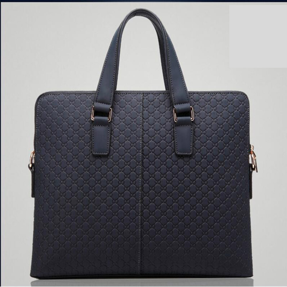 купить New double zipper Famous Brand Business Men Briefcase Bag Leather Laptop Bag Casual Man Bag Shoulder bags men's briefcase по цене 5699.55 рублей