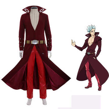 Anime The Seven Deadly Sins Ban Cosplay Costume Fox's Sin of Greed Ban Costume Adult Men Halloween Outfit Trench Coat Pants Suit - DISCOUNT ITEM  7% OFF All Category