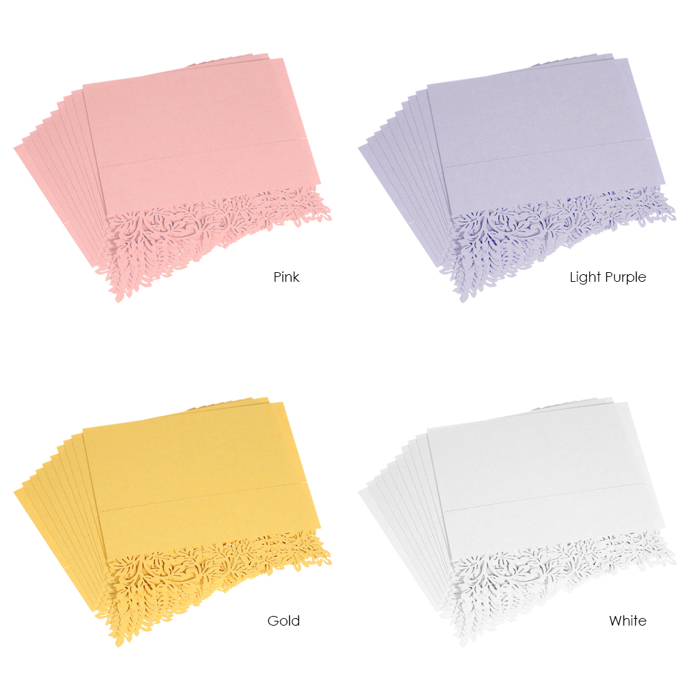 Hot Sale 10pcs Lot Wedding Cards Name Place Table Card For Guests