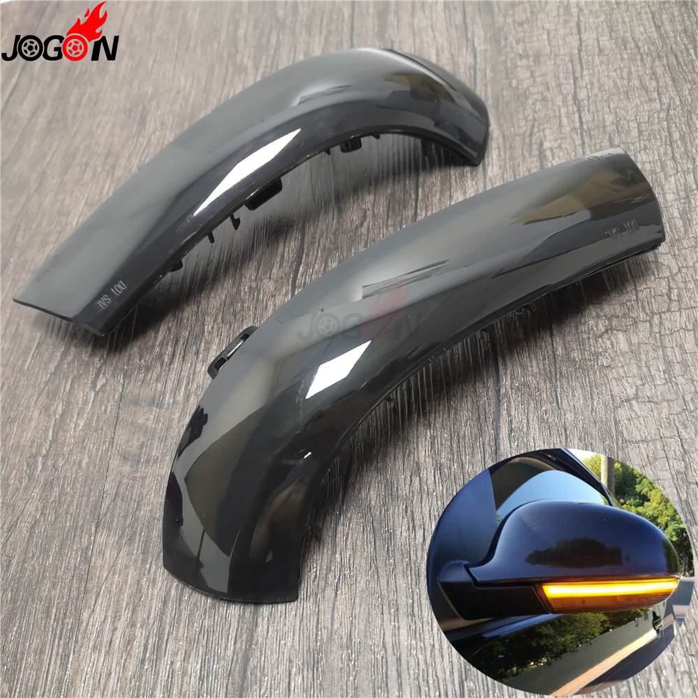 Pair LED Mirror dynamic indicators side repeaters blinkers for Audi A6 C7 11-14