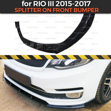 Front-Bumper Body-Kit Car-Styling-Tuning Decoration Splitter ABS for Kia Rio III Abs-Plastic