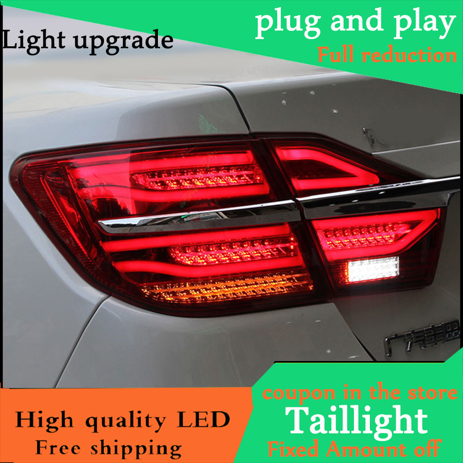 Car Styling Tail Lights For Toyota Camry V55 2015 2016 Taillights LED Tail Light Rear Lamp