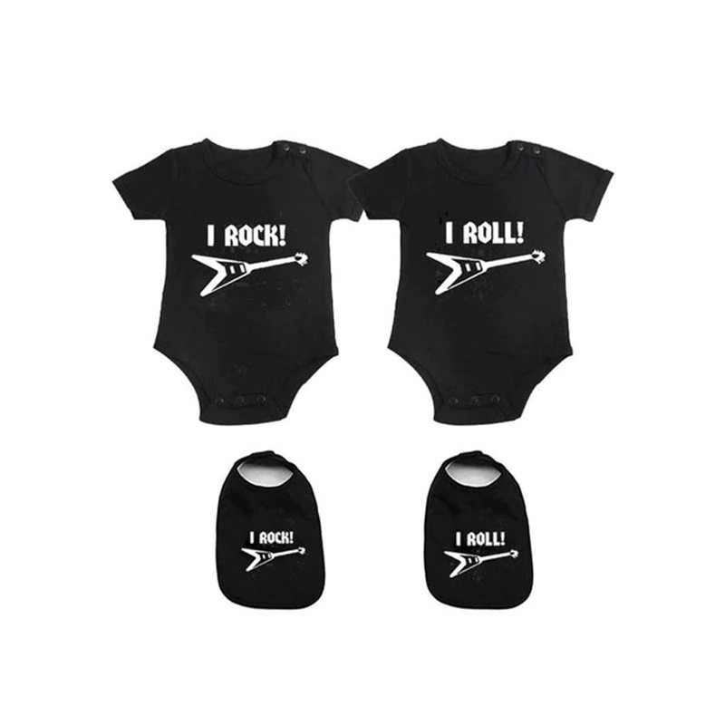 c28291f3dd66 YSCULBUTOL Baby Bodysuits For Unisex Boys Girls White Twin Short Sleeve  Clothes Baby Shower Gift My