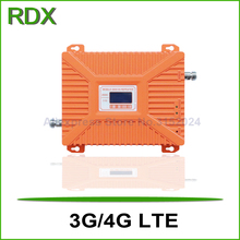 New lcd display dual band 3g 4g lte 2600mhz repeater high gain 70dB mobile phone 4g booster amplifier with power adaptor 2017