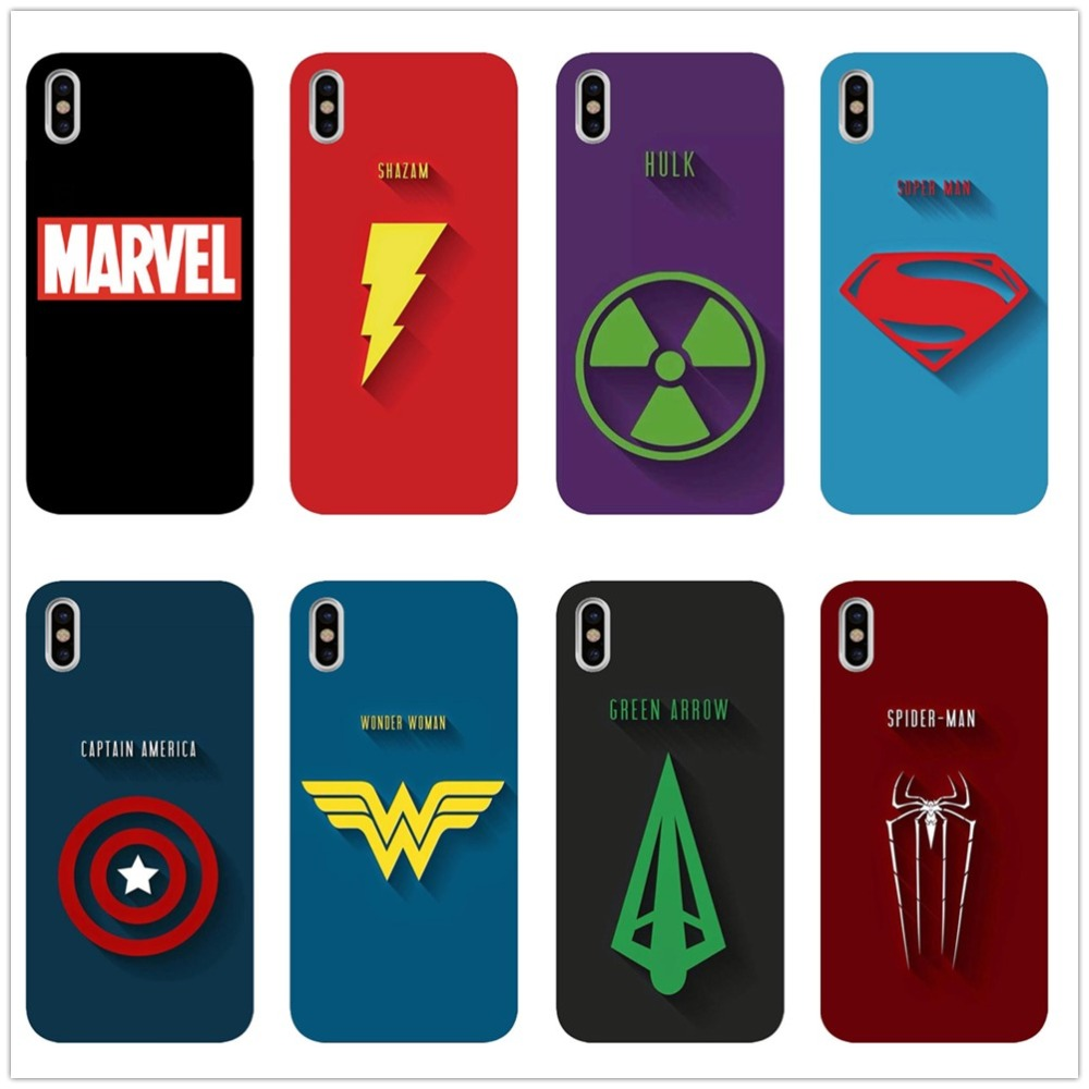 MARVEL LOGO Popular Custom Black TPU Phone Cover For iPhone 5 11 11PRO MAX SE 6 6S 7 7Plus 8 8Plus X XR XS Max