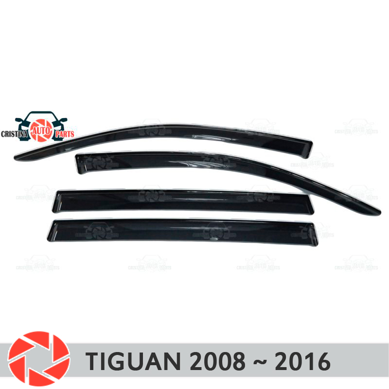 Window deflector for Volkswagen Tiguan 2008-2016 rain deflector dirt protection car styling decoration accessories molding carbon door side wing mirror cover rearview mirror protector cover for volkswagen vw tiguan 2010 2013 car styling accessories