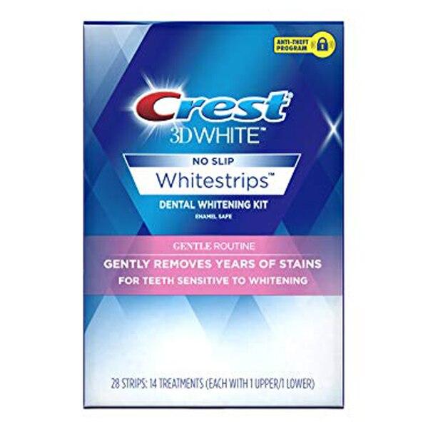 Crête 3D blanc whitesadpic trousse de blanchiment des dents de ROUTINE douce 1 boîte 14 pochettes bandes d'hygiène buccale professionnelles originales