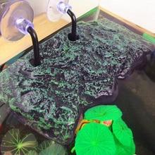 Turtle Platform Toy Floating Island PU Foam Aquarium Float Decoration Bask Crawler Sun Roof Terrace Climb Brazilian Tortoise