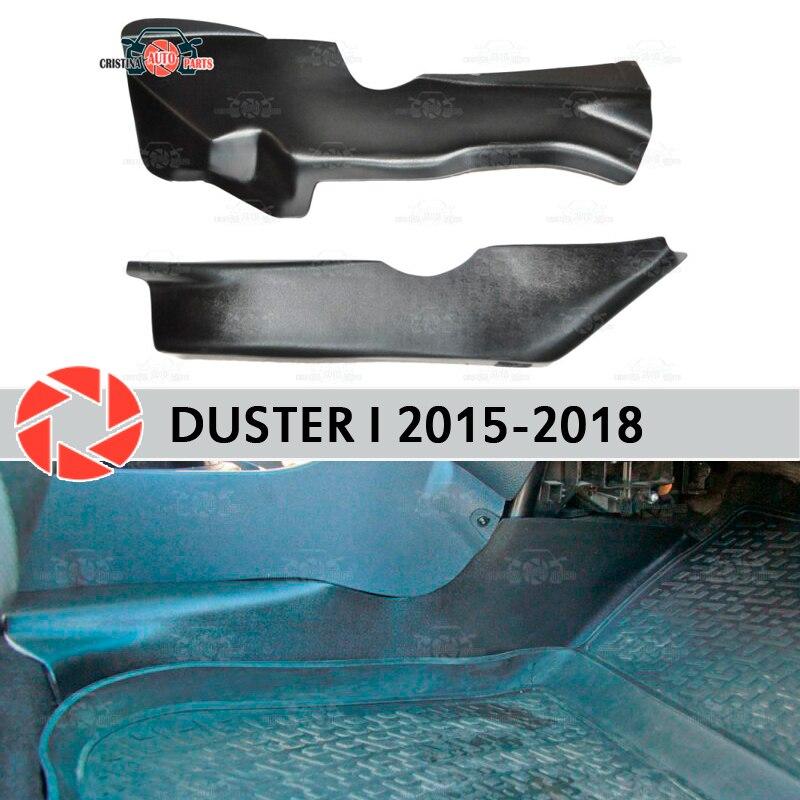 Placa protetora tampa do interior do túnel para Renault Duster 2010-2018 sob os pés da guarnição de proteção acessórios tapete do carro styling