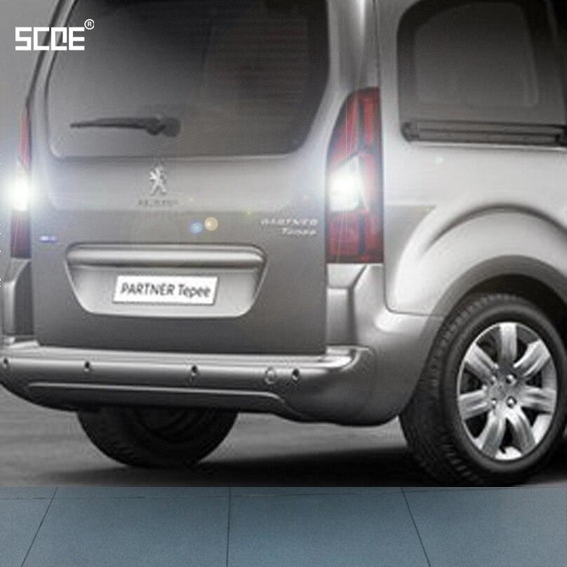 For Peugeot Partner Partner Tepee/Van RCZ SCOE 2015 New 2X30SMD Super Bright Back Up Light Reverse Light Car Styling