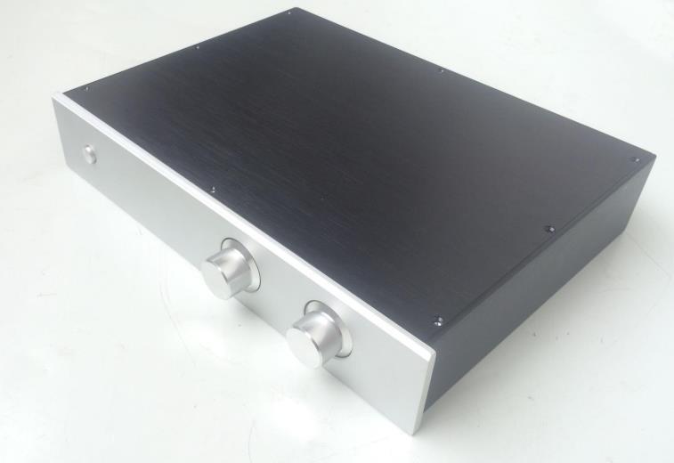 BZ4308G haute performance coût tout en aluminium amplificateur combiné châssis préamplificateur boîtier boîtier bricolage boîte 430 MM * 80 MM * 308 MM