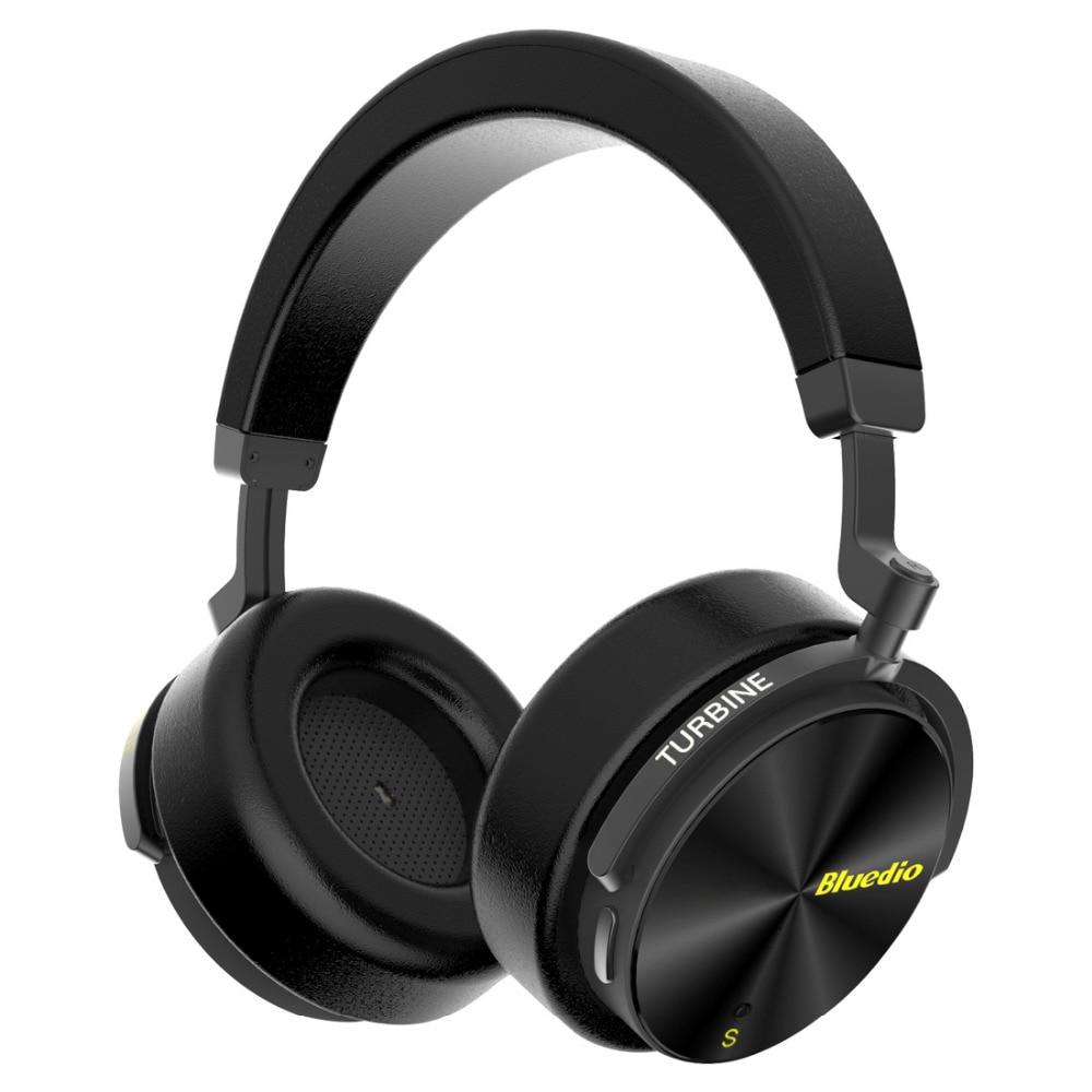 Bluedio T5S activa de ruido cancelación de auriculares Bluetooth inalámbrico portátil auriculares con micrófono para teléfonos celulares