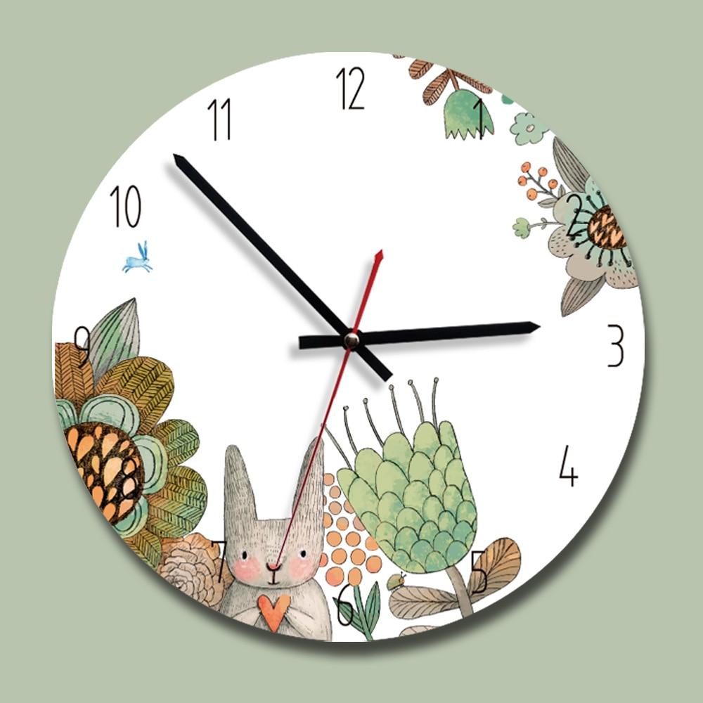 2018 New Clock Acrylic Creative Wall Clock Modern Design Kids Bedroom Silent Quartz  Reloj De Pared Decorativo Cartoon Clocks