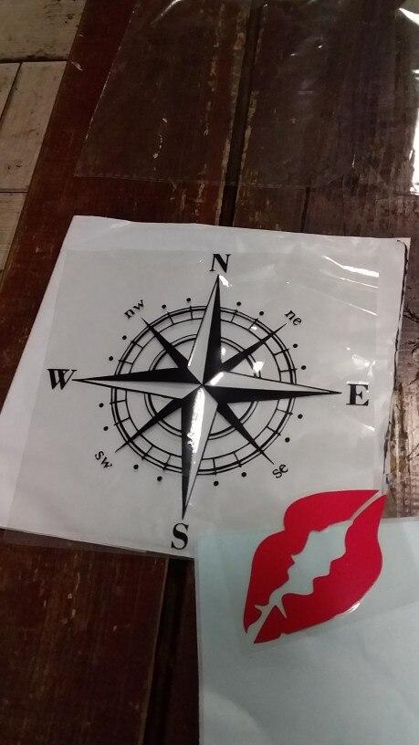 15cm*15cm Art Design Vinyl NSWE Compass Car Stickers Decals Black/Silver S6-3505