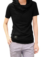 Allegra K Erkek Casual Açık Gri Yeni Şık Kukuletası Boyun Hoodie Tee Gömlek Üstleri Xl 303-T36