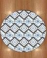 Else синий серый этнический геометрический богемный ацтекский нордек 3d принт противоскользящие назад круглые ковры ковер для гостиной ванно...