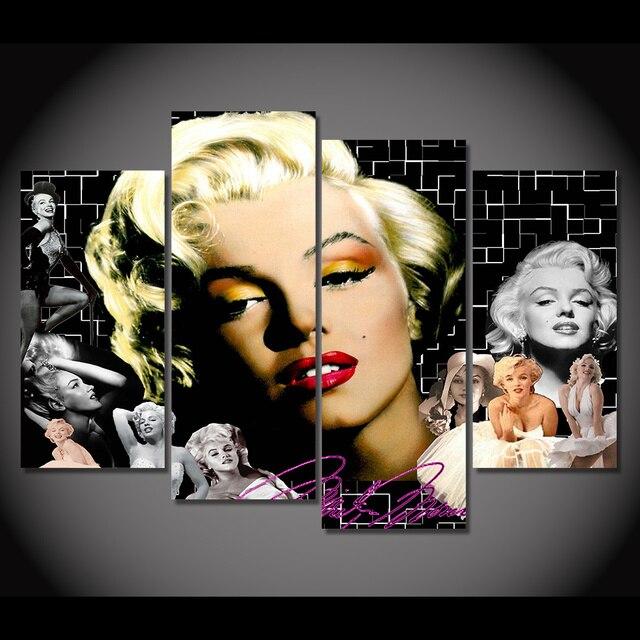 4 panel enmarcado HD impreso Marilyn Monroe imagen pared arte lienzo ...