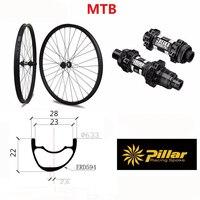 28x22 XC углерода колесная MTB Boost 12x142 мм колеса углерода 27.5er XC обод полный углерода MTB обод 29er бескамерных колес