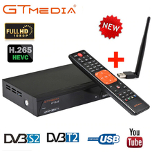 GTMedia DVB-S2 V7 Plus Combo HD Digital/T2 PowerVu Receptor de Satélite TV Suporte Cccamd H.265 HEVC Turner TV Set top Box