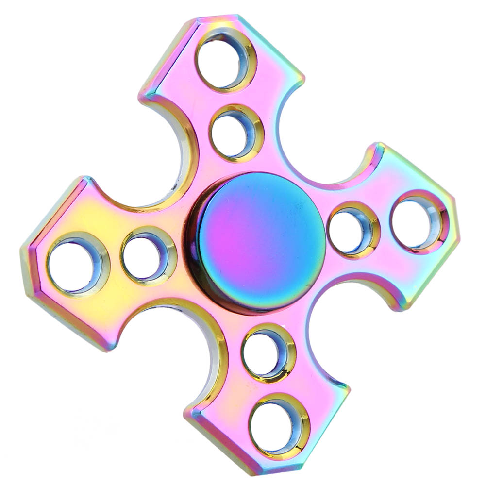 discountHEH 1 Pc Four Fidget Spinner Rotating ADHD Gyro