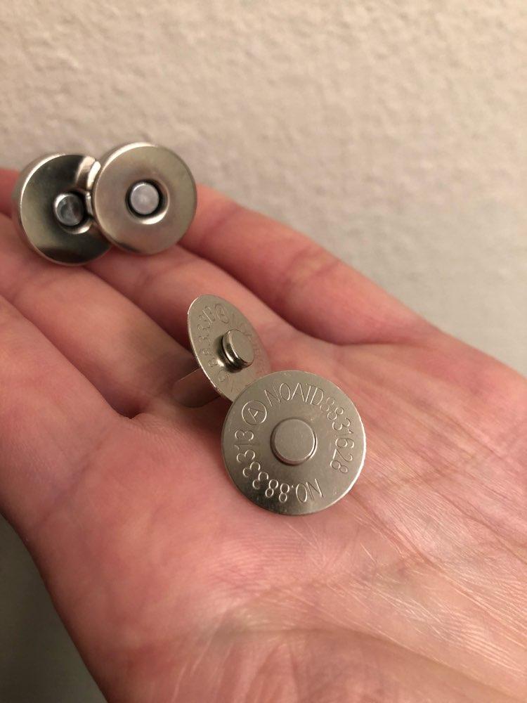 5pcs Magnetische sluiting Portemonnee Snaps Sluitingen 18mm Ronde naaien knop Zak Druk Stud photo review