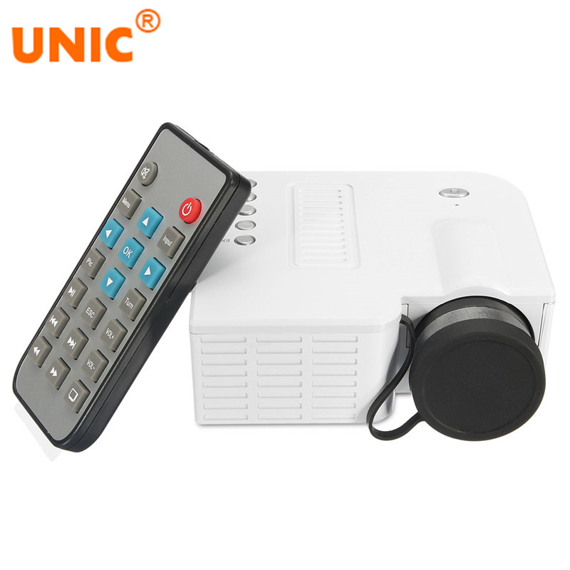 2017 Newest UNIC UC28A Projector Mini LED Digital Video Game Projectors Multimedia Player Inputs AV USB