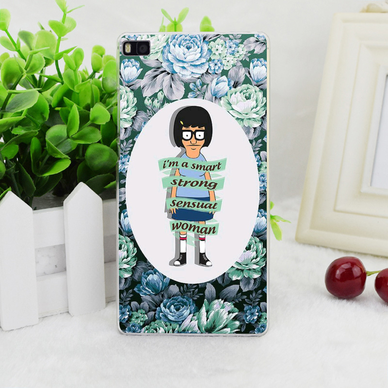 A2296 Tina Bob S Burgers Transparent Hard Thin Skin Case Cover For Huawei P 6 7 8 9 Lite Plus Honor 6 7 4C 4X G7