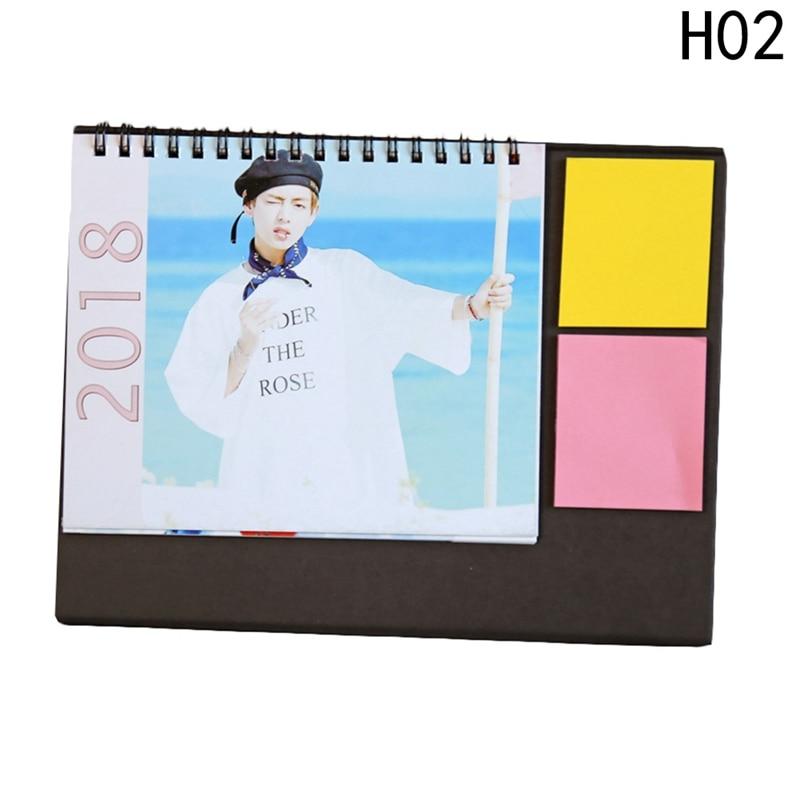 Kpop Army Bomb 2018 Desk Calendar Bangtan Boys Mini Picture Photo Album  Monster Fan Made Calendar