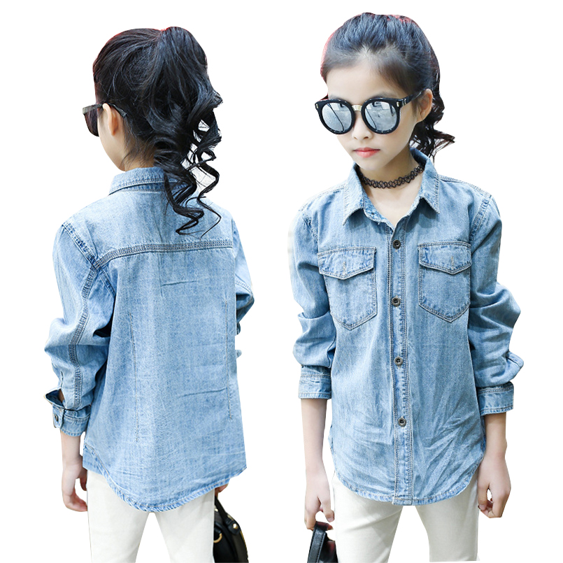 2017 New Girls Casual Shirt Long Sleeve Fashion Denim Jacket Kids Kids Girls Jeans Shirts School Girls Thin Jacket 5 7 9 12 14Y52017 New Girls Casual Shirt Long Sleeve Fashion Denim Jacket Kids Kids Girls Jeans Shirts School Girls Thin Jacket 5 7 9 12 14Y5