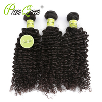 Prom Queen 8A Kinky Curly Virgin Hair Peruvian Curly Hair Weave 1/3/4 Piece Human Hair Bundles Natural Color