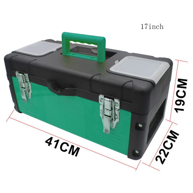 Multifunctional Portable Toolkit Box Plastic Iron Two-layer Tool Box Wear-resistant Hardware Tools Boxes