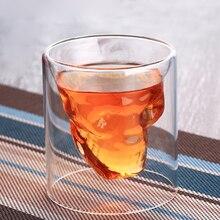 New Crystal Skull Head Wine Glass Funny Transparent Whiskey Vodka Beer Shot Glass Cups Bar Club KTV Karaoke Party Drinking Glass стоимость