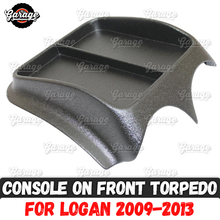 Console on front panel for Renault Logan 2009 2013 ABS plastic organizer function pad accessories scratches car styling tuning