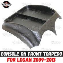 Renault Logan 2009 2013 용 전면 패널 콘솔 ABS 플라스틱 주최자 기능 패드 액세서리 흠집 자동차 스타일링 튜닝