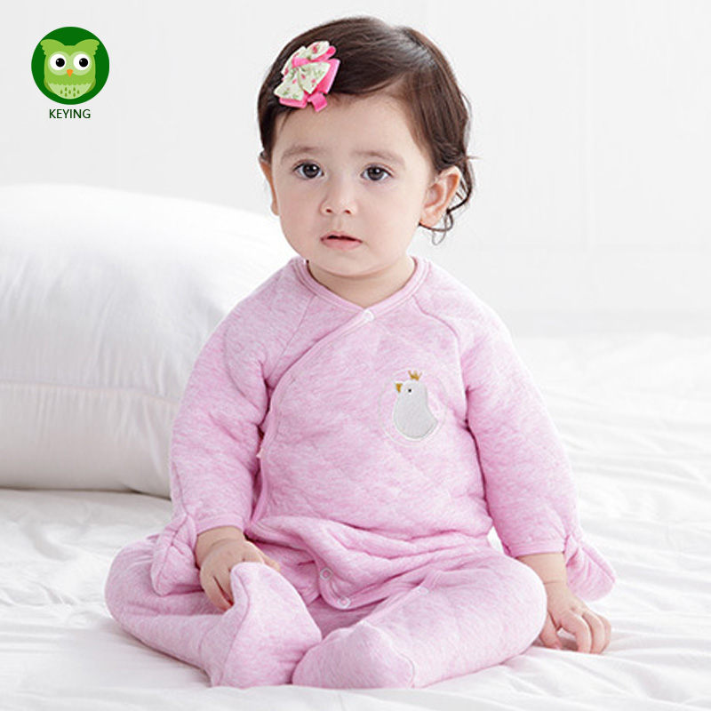 KEYING Baby Rompers Newborn Winter Body Bebe Baby Boy Solid Clothing Baby Girl Overall Rompers for Infants Recem Nascido Clothes