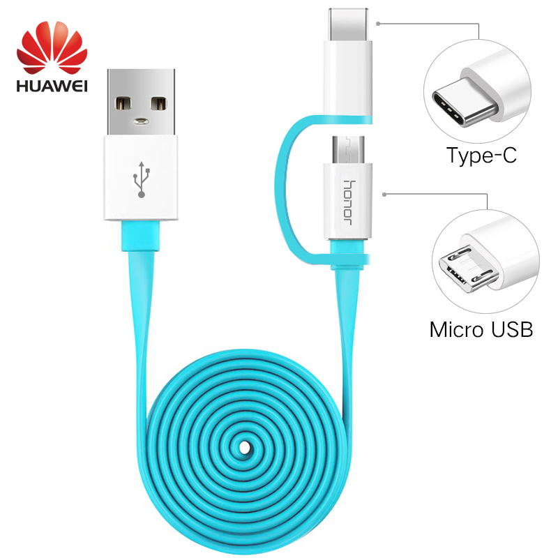 2 in 1 Micro USB Typc C Cable Huawei P20 Pro Fast Charger 2A 1.5M Type C Charge Cable Honor 8 9 V9 P7 P8 P9 P10 lite