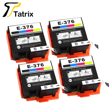 Tatrix  Integration Inkjet Dye Ink T3760 T376  For Epson Compatible Ink Cartridge With Chip Suit For Epson PictureMate PM-525 auto reset chip decoder for epson 7800 9800 inkjet printer cartridge